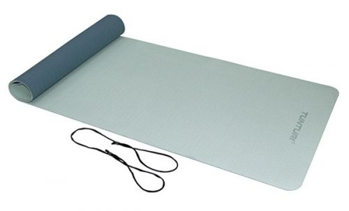 tunturi tpe yoga mat dark/light blue