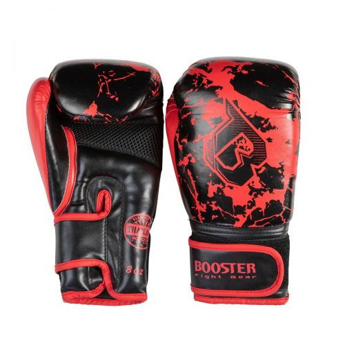 Booster bokshandschoen marble red kids
